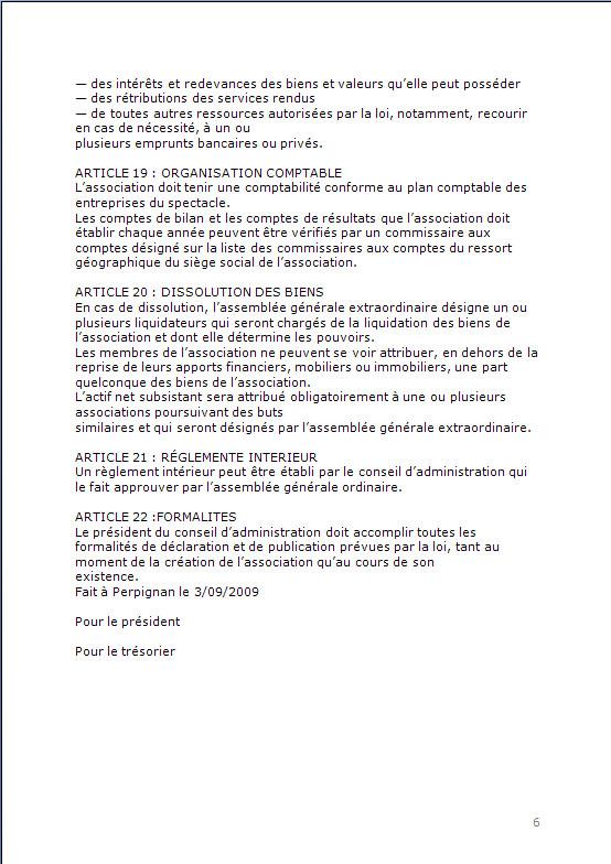 CONSTITUTION EN ASSOCIATION : DOCUMENTS ORIGINAUX DEPOSES EN PREFECTURE P613
