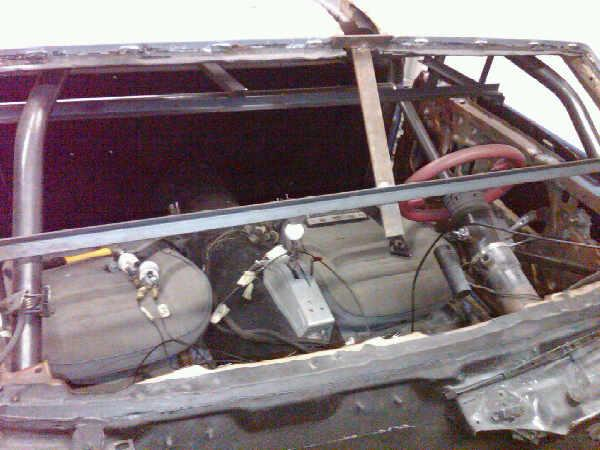 Pictures of El Camino roll cage install 410