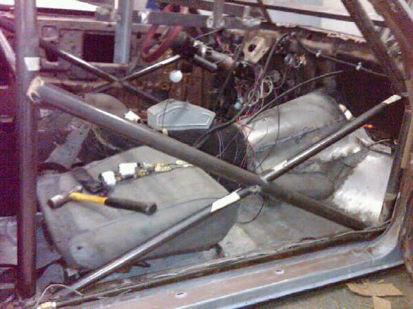 Pictures of El Camino roll cage install 611