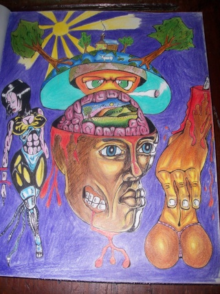 This is a colour pencile drawing called:( Human Sin)  100_2312
