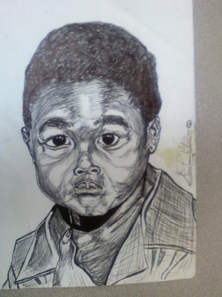 A pen Drawing of some one I know, when they were small. 11280810