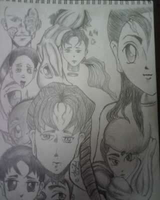 A Group anime sketch that i have done out of my head Img00310