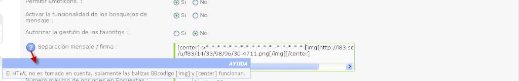 Personalizar el separador mensaje - firma Beta1812