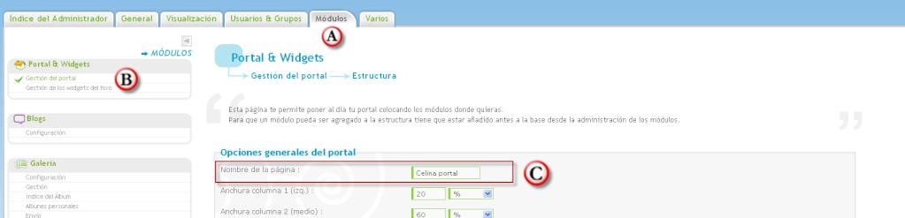 Personalizar el nombre del portal en la barra de navegación del indice Beta510