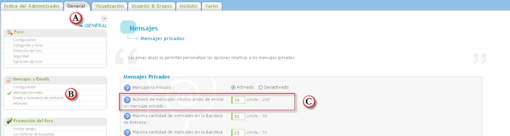 Poner permisos para los mensajes privados según el número de mensajes en el foro Beta_m10