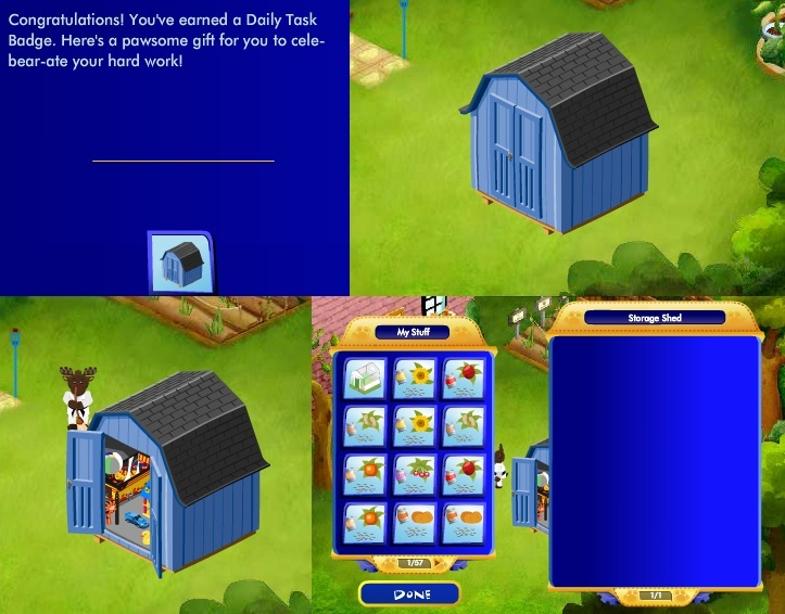 Storage Shed: Level 1 Silver Daily Tasks Reward Storag10