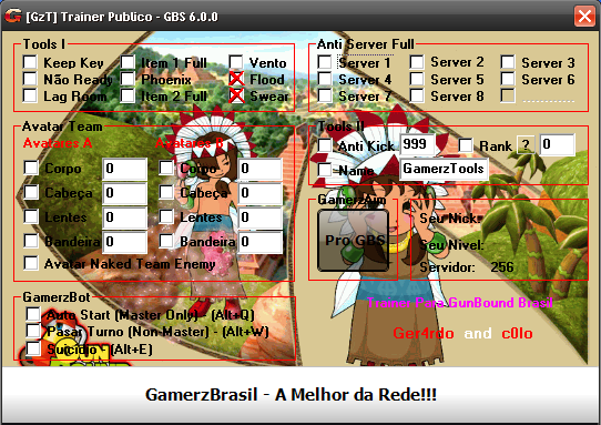 Trainer GunBound Brasil v6.0.0 + GamerzAim Pro Brasil10