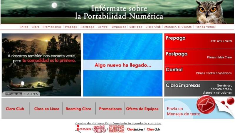 PAGINA PRINCIPAL DE CLARO Claro10