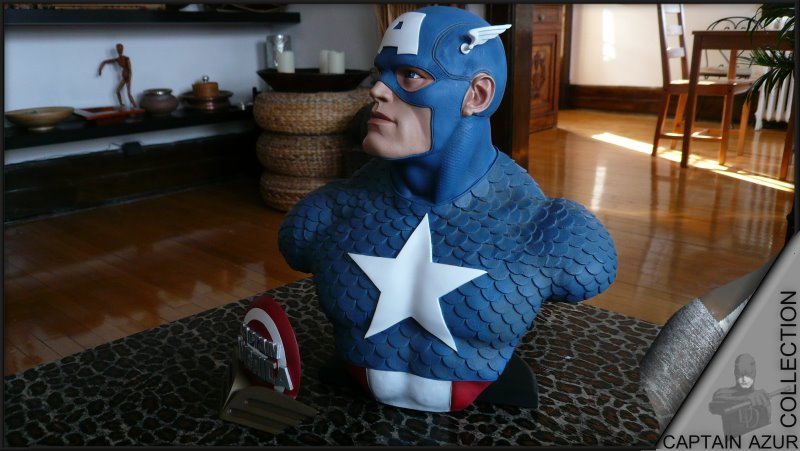 CAPTAIN AMERICA Legendary scale bust Cap111