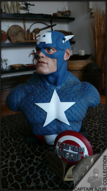 CAPTAIN AMERICA Legendary scale bust Cap1110