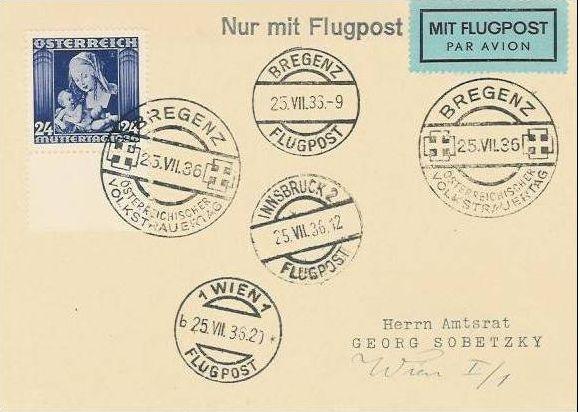 Ältere Flugpost aus Wien Zzzzzz12