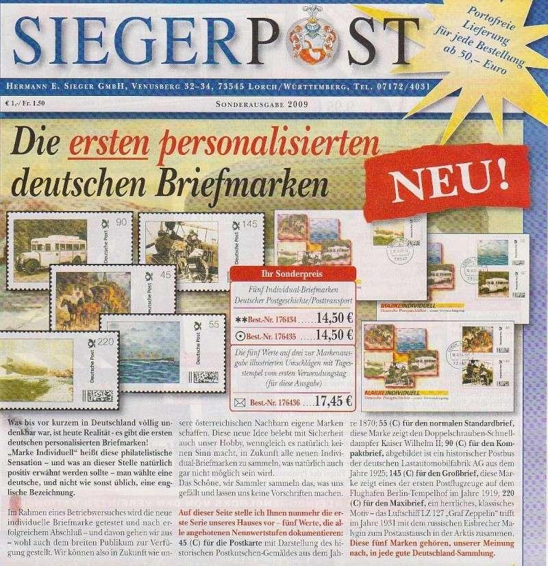 erste amtlichen personaliserte Briefmarken in Deutschland Zzzzzz15