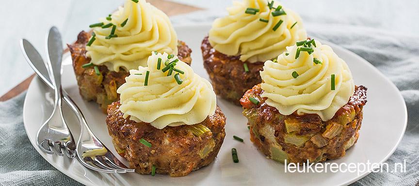 Mini gehaktbroodjes met aardappeltoef Meatlo10