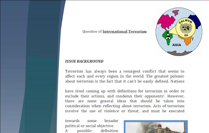 Asia Study Guide - Question of International Terrorism Terror10
