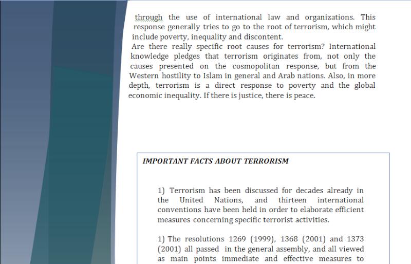 Asia Study Guide - Question of International Terrorism Terror12