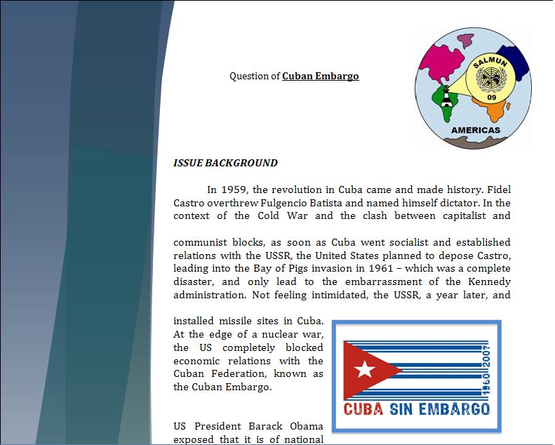Americas Study Guide -Question of Cuban Embargo Cubapa10