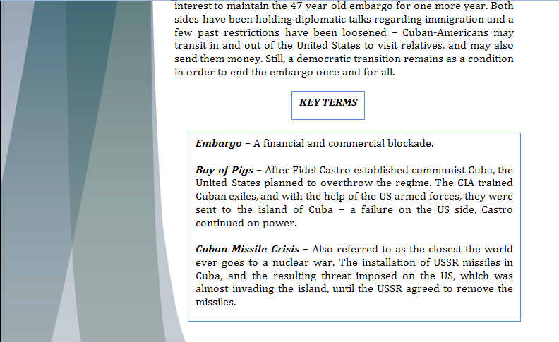 Americas Study Guide -Question of Cuban Embargo Cubapa11