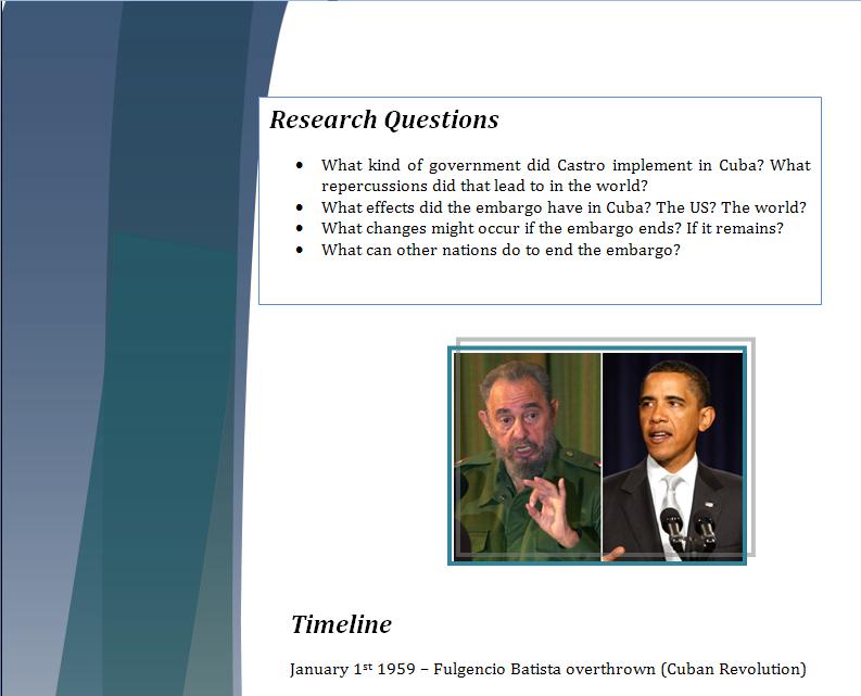 Americas Study Guide -Question of Cuban Embargo Cubapa12