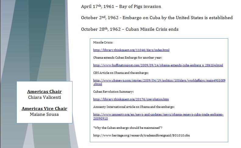 Americas Study Guide -Question of Cuban Embargo Cubapa13
