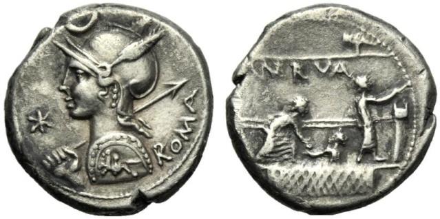 Nouveau denier de la gens Licinia 39510