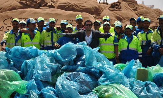 La plage de Aïn Diab débarrassée de 4,5 tonnes de déchets Imager10