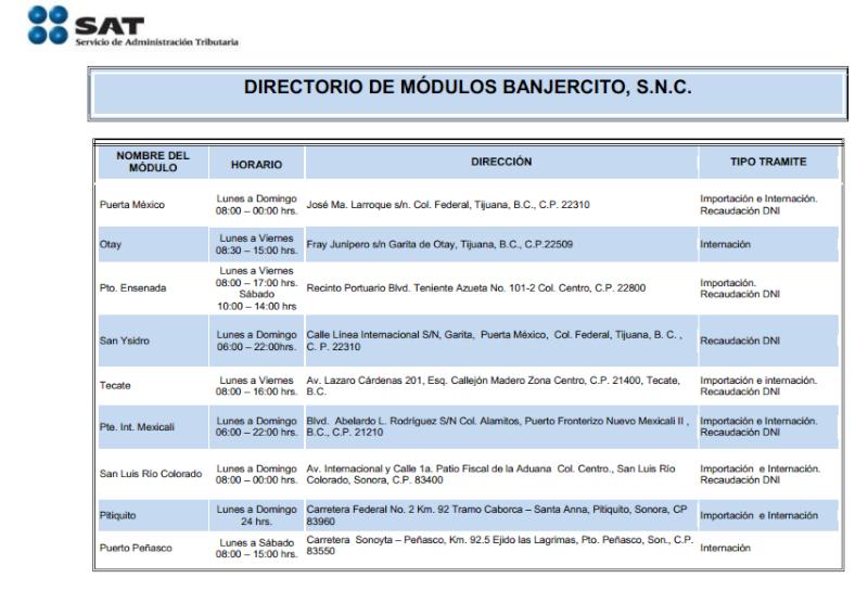 Aduana/Banjerco get a car TIP pass in TJ/ Otay Mesa MAP Captur10