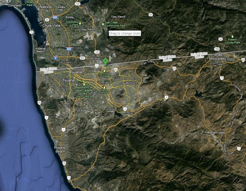 Aduana/Banjerco get a car TIP pass in TJ/ Otay Mesa MAP Tj10