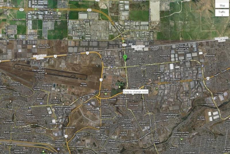 Aduana/Banjerco get a car TIP pass in TJ/ Otay Mesa MAP Tj210