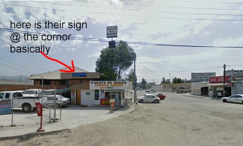 Aduana/Banjerco get a car TIP pass in TJ/ Otay Mesa MAP Tj810