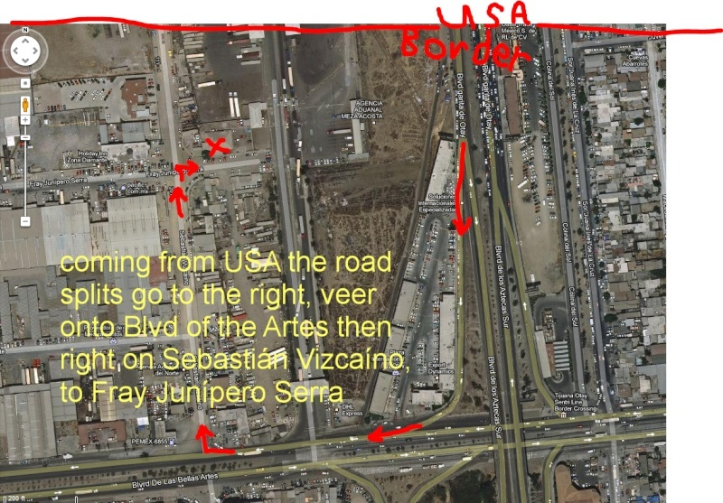 Aduana/Banjerco get a car TIP pass in TJ/ Otay Mesa MAP Tj910