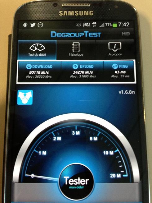 Mes débuts sur la 4G de Bouygues Telecom, avec un Galaxy S4 et Xperia Z 2testm11
