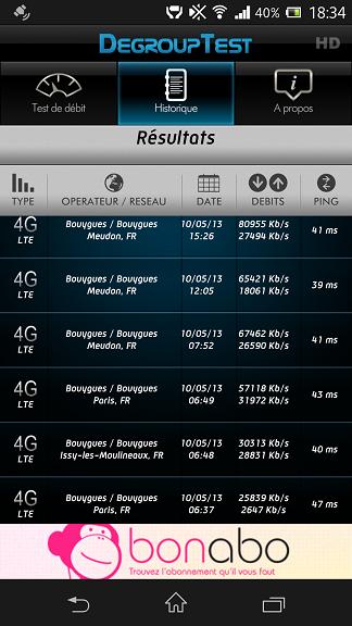 Mes débuts sur la 4G de Bouygues Telecom, avec un Galaxy S4 et Xperia Z Screen10