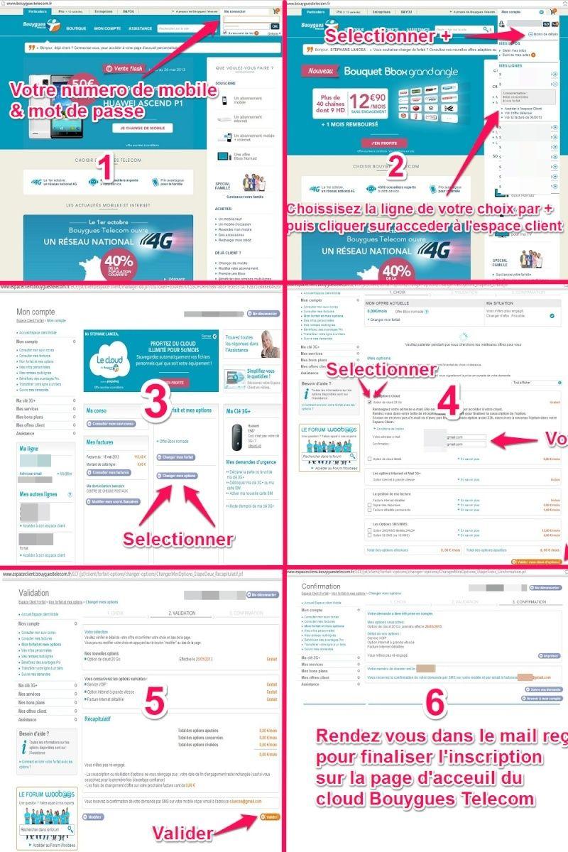 Le Cloud de Bouygues Telecom: 20Go offert, pour l'adopter. Souscr10