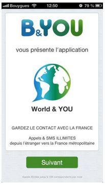 Worl&YOU Appels et SMS gratuits et illimités depuis le monde entier. Wyou10