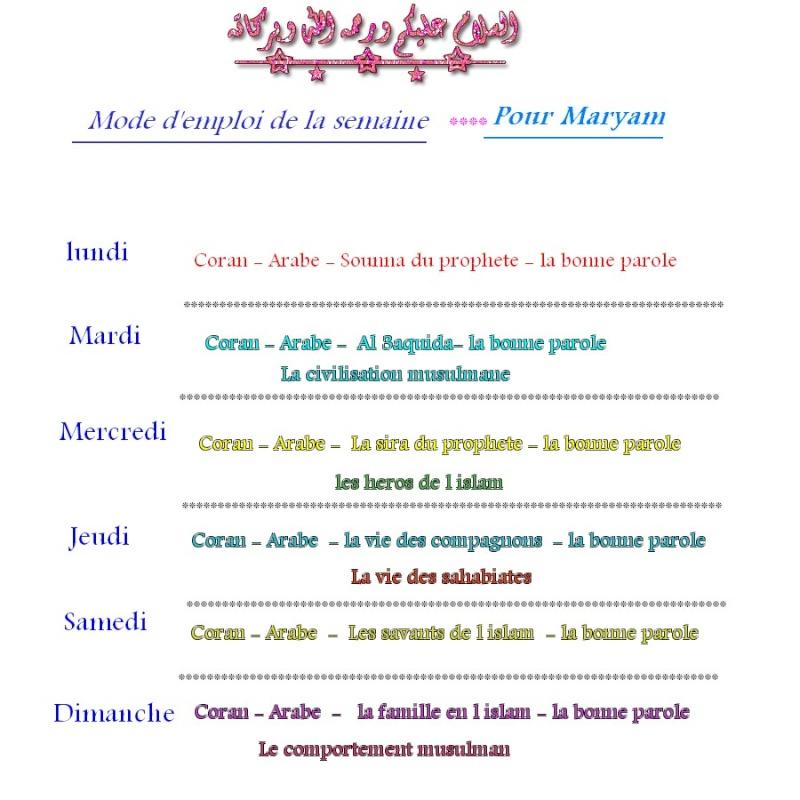 modes d emploi pour Maryam, Illiesse,Abdourahmen 77777710