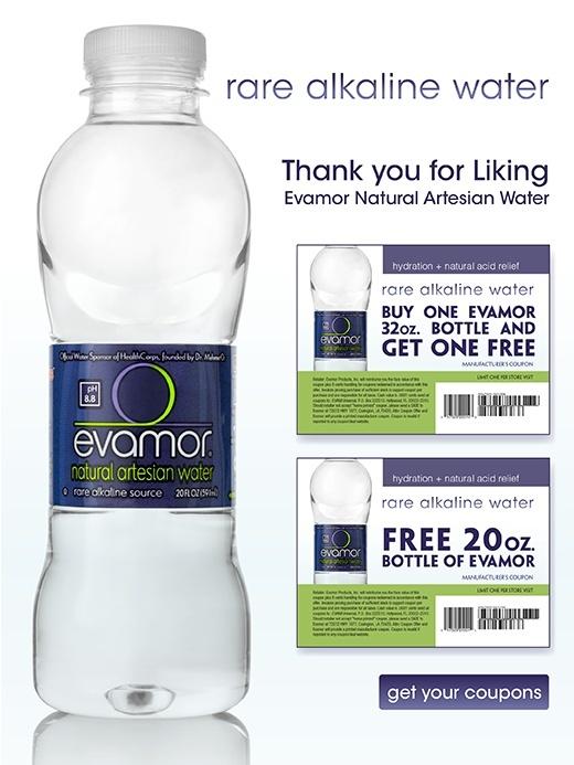 Free Bottle of Evamor Natural Water Evamor10