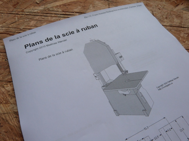 [Fabrication] Scie à ruban en bois P1040310