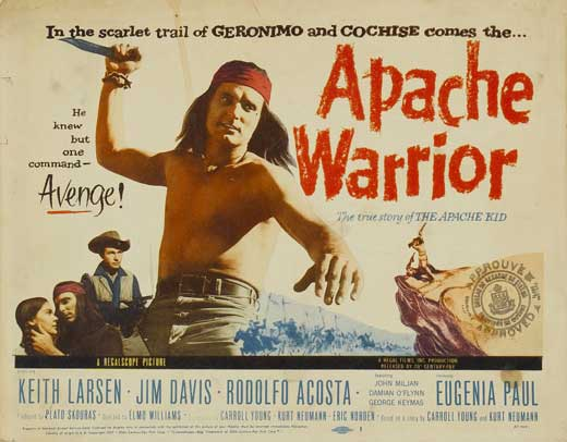 Chasseurs de scalps- Apache Warriors - 1957- Elmo Williams Apache10