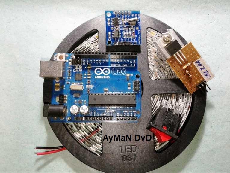 دائرة تعمل منبة مع بداية الضوء بشكل اتوماتيكى بدون المستخدم نهائى 510