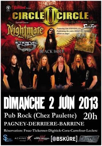 CIRCLE II CIRCLE - NIGHTMARE  02 Juin 2013 Chez Paulette C2c10