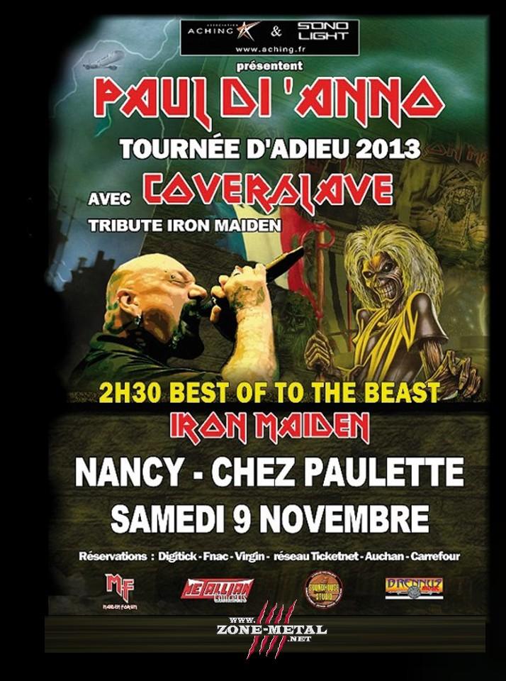 PAUL DI ANNO & COVERSLAVE chez Paulette le 09 Novembre 2013 Facebo11