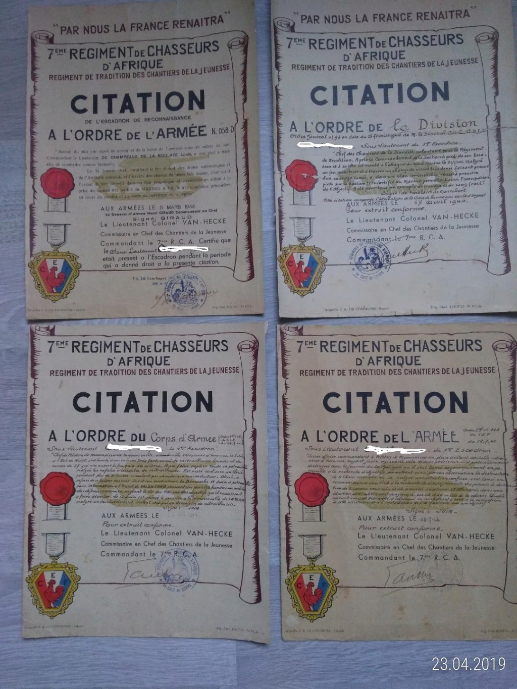 4 Citations d'un officier du 7e RCA 7_rca10