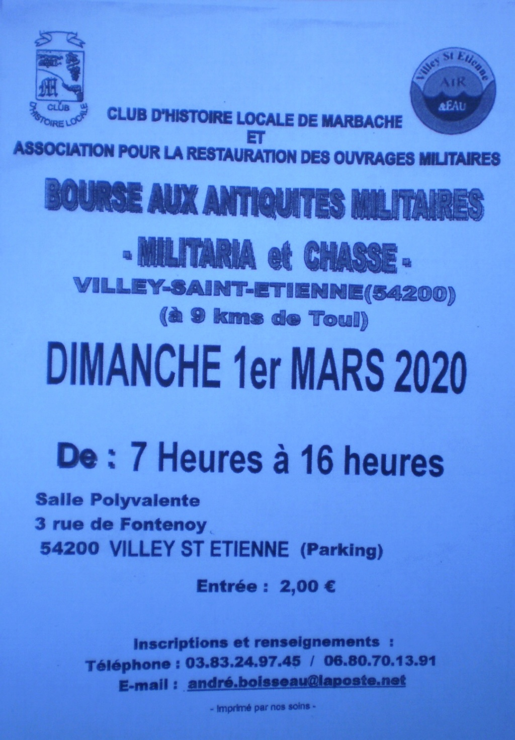 le 1er Mars 2020 .  BOURSE en LORRAINE 02611