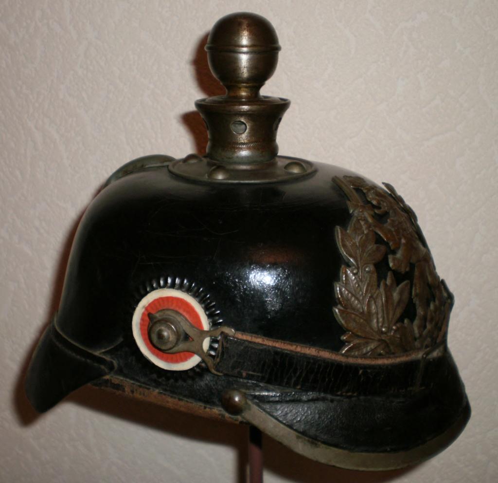 Plaque de casque à pointe hessois - Identification et estimation 411