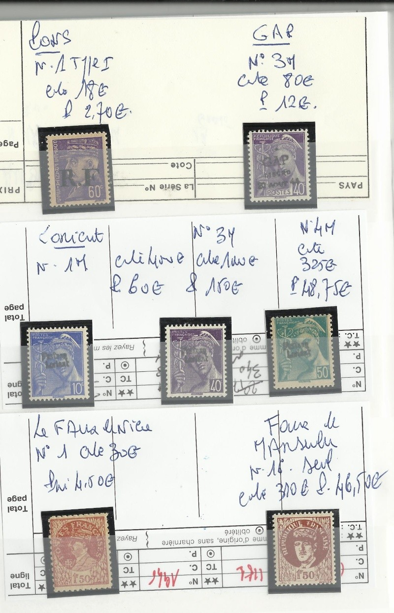 timbres de la libération Timbre12