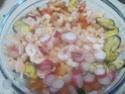 Coquilles de saumon et crustacés, garnies.photos.  Coquil12
