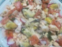 Coquilles de saumon et crustacés, garnies.photos.  Coquil13