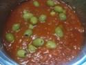 pavés de thon au pamplemousse, en sauce et olives vertes, photos. Pava_d18