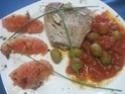 pavés de thon au pamplemousse, en sauce et olives vertes, photos. Pava_d19