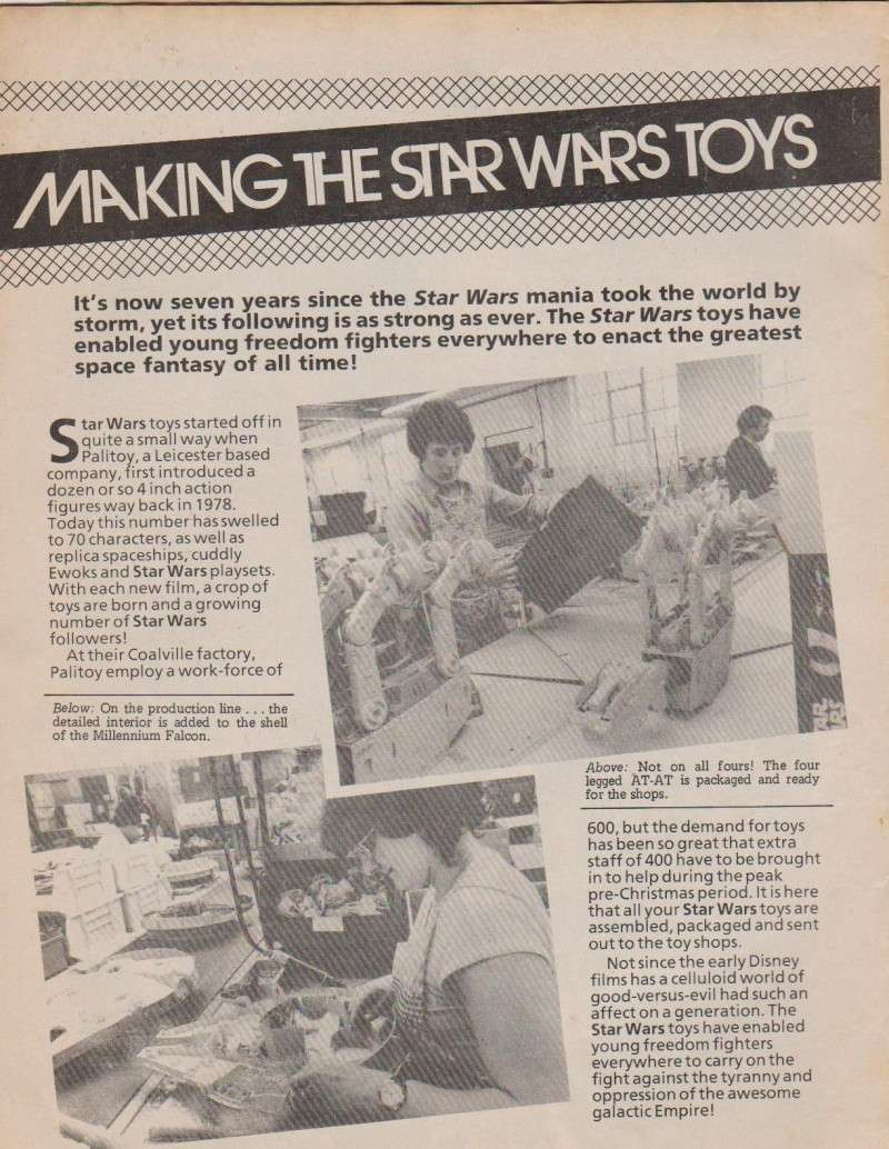 Making The Star Wars Toys - Marvel Comic Supplement Comic_10